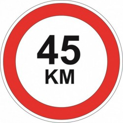 45 KM sticker - diameter 16 cm